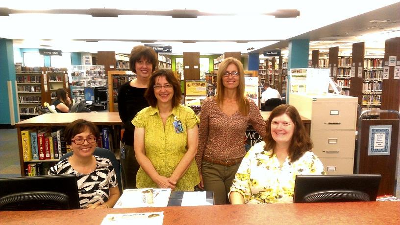 East Branch: Seated: Marie Delcher; Cynthia Sotka Standing: Barbara Rainey; Carol Melichar; Diane Keys