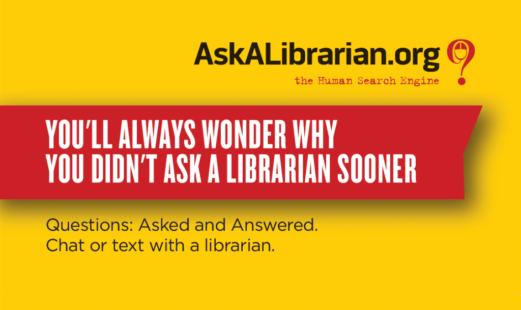 Ask a Librarian Business Card