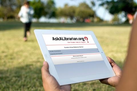 Ask a Librarian iPad App outdoors