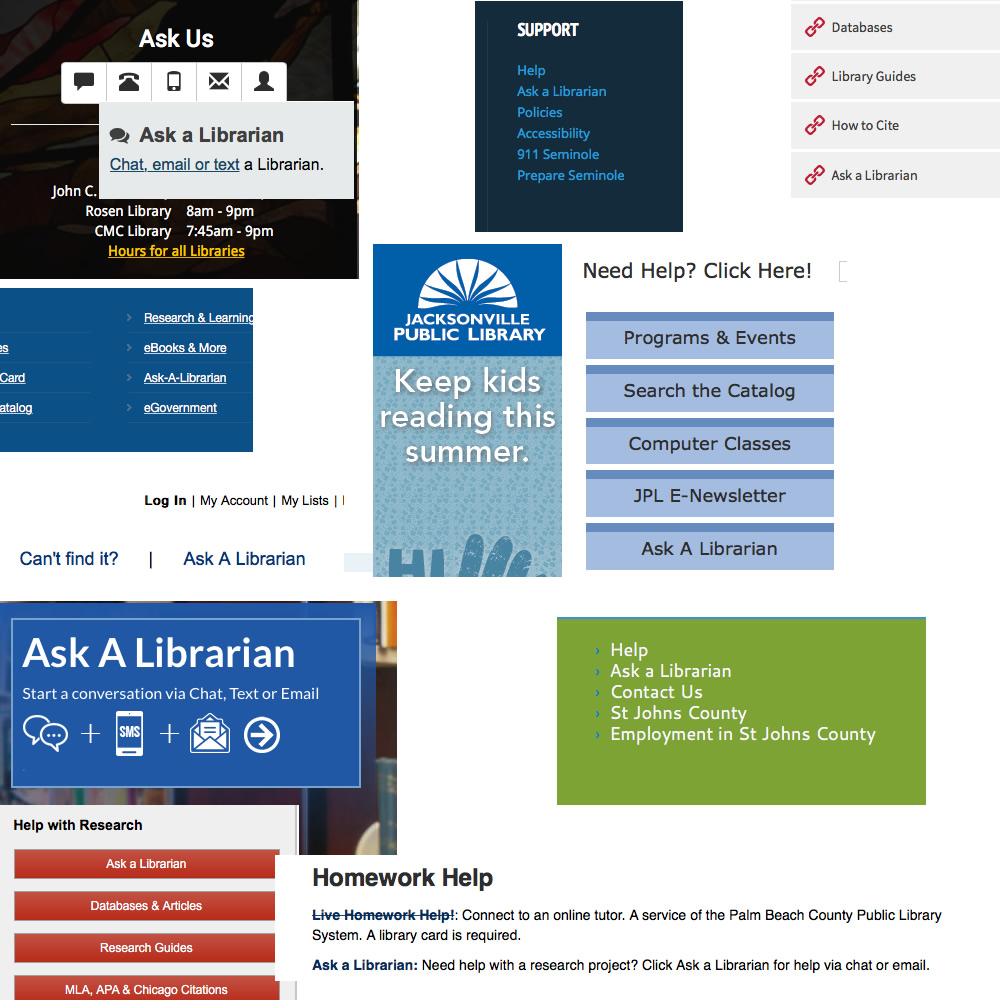 Linking to Ask a Librarian